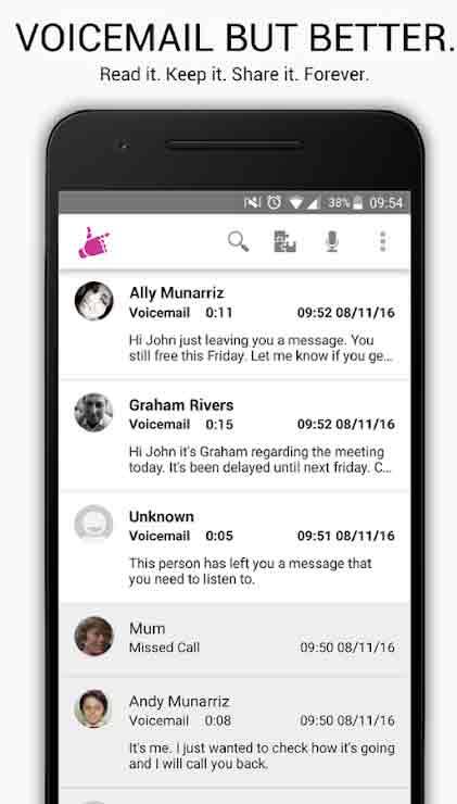 VOICEMAIL APPS FOR ANDROID