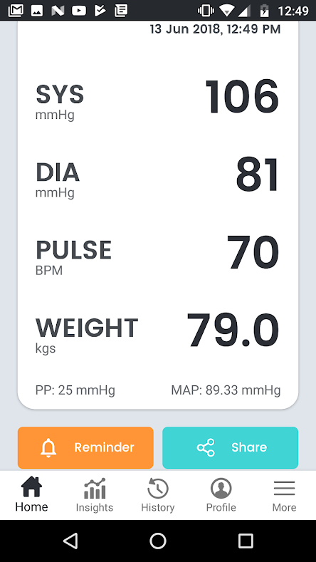 blood pressure app for android