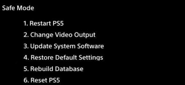 how to rebuild database ps5