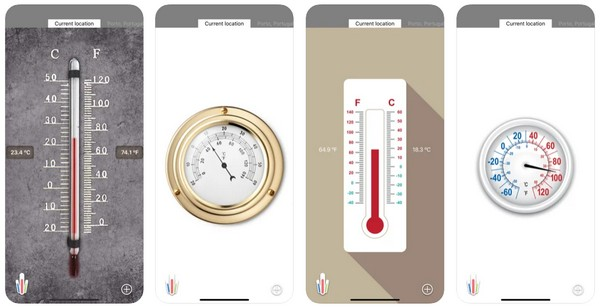 HD Thermometer app to measure temperature in room