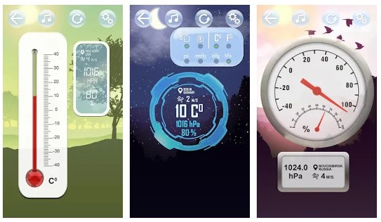 Real Thermometer app to measure temperature in room
